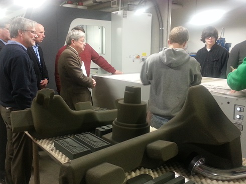 Governor Terry Branstad at a recent printer demonstration