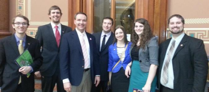 Students with Senator Danielson