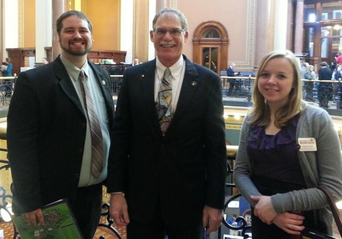 Students with Senator Guth