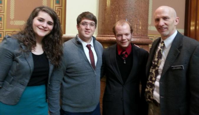 Students with Senator Rogers