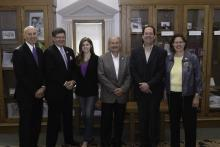 Rep. Walt Rogers, President Bill Ruud, Rep. Anesa Kajtazovic, Sen. Bill Dotzler, Rep. Bob Kressig, and Rep. Sandy Salmon
