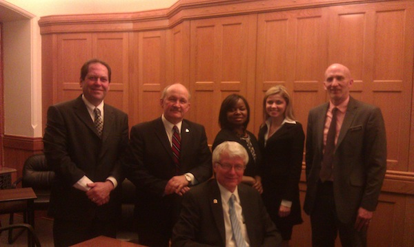 President Allen with local legislators